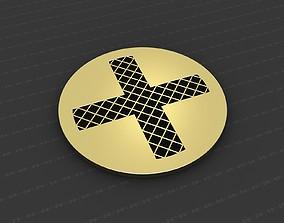 3D print model orthodox Cross Medallion
