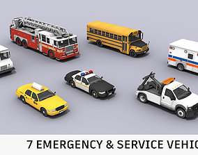 3D model game-ready Cars Pack 01