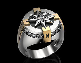 3D printable model Compass rose ring