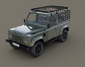 3D 1985 Land Rover Defender 90 with interior ver 5