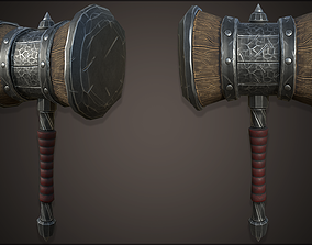 game-ready Stylazed 3D Hammer