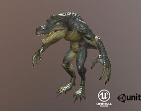 Crocodile Warrior 3D model