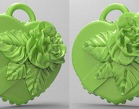 3D print model Rose on heart