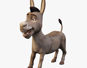 Donkey 3D Model no Rig low-poly