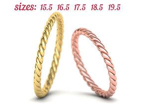 Just Rope Ring 5 sizes N0264 3D printable model
