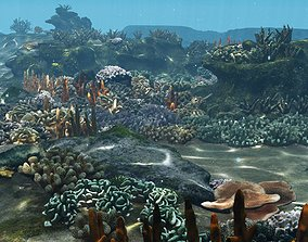 3D model Underwater Coral Reef Habitat Ocean V3