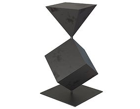 West Elm Metal Cubes Sculpture 3D