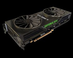 Nvidia RTX 2080 ti Graphic card 3D model