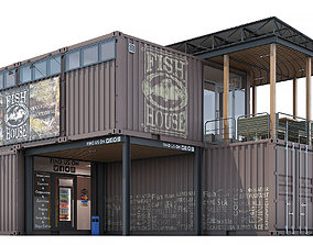 3D Container fish house