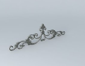 Wrought iron pediment houses the world 3D