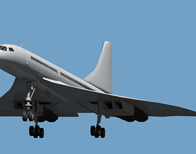 3D model game-ready Concorde