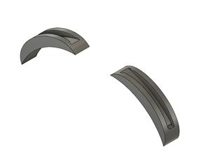 Headband adaptor for slide on V5 Ears 3D print model