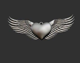 3D print model Flying Heart