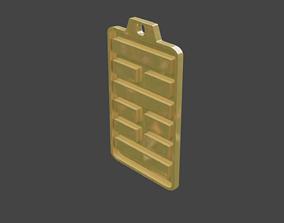 rgd shike hexagram pendant 3D print model