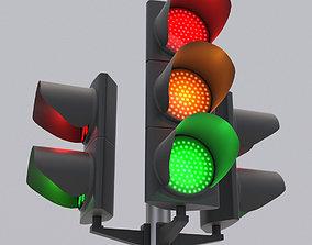 3D model Traffic Light LED 3