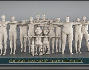 3D asset 14 Rigged Base Mesh