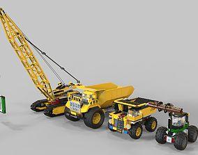 Lego Pack truck 3D