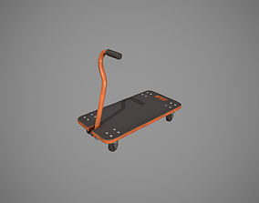 Transport Trolley - Orange 3D model