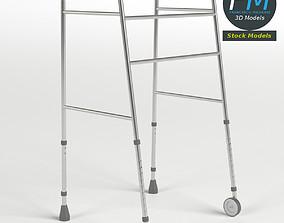 Front-wheeled walker 3D