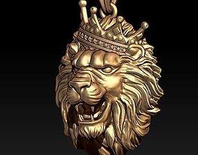 3D print model lion necklace pendant