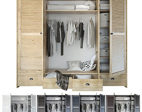 3D model Wardrobe with clothing