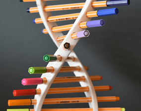 DNA Pen Holder by TIXEN 3D printable model