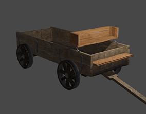 3D asset wheel Medieval Cart