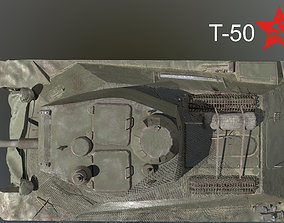 Tank T-50 3D model