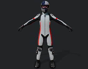 Racing Bike Rider 3D asset
