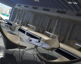 Cafe Modern Interior Design 3D model