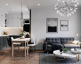 3D model Small Apartment Design 2