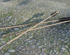 Ultra lowpoly arrow 3D asset