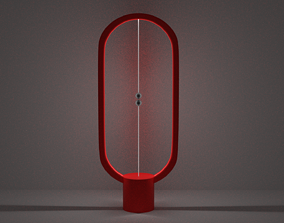 Magnetic Heng Balance Lamp 3D asset game-ready