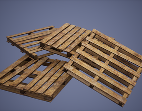 3D model Pallets Low Poly Game Ready