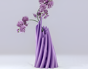 Twisted Cylindrical Flower Vase 3D print model
