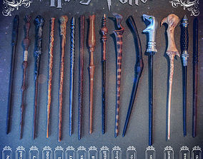 3D printable model HARRY POTTER WANDS COLLECTION