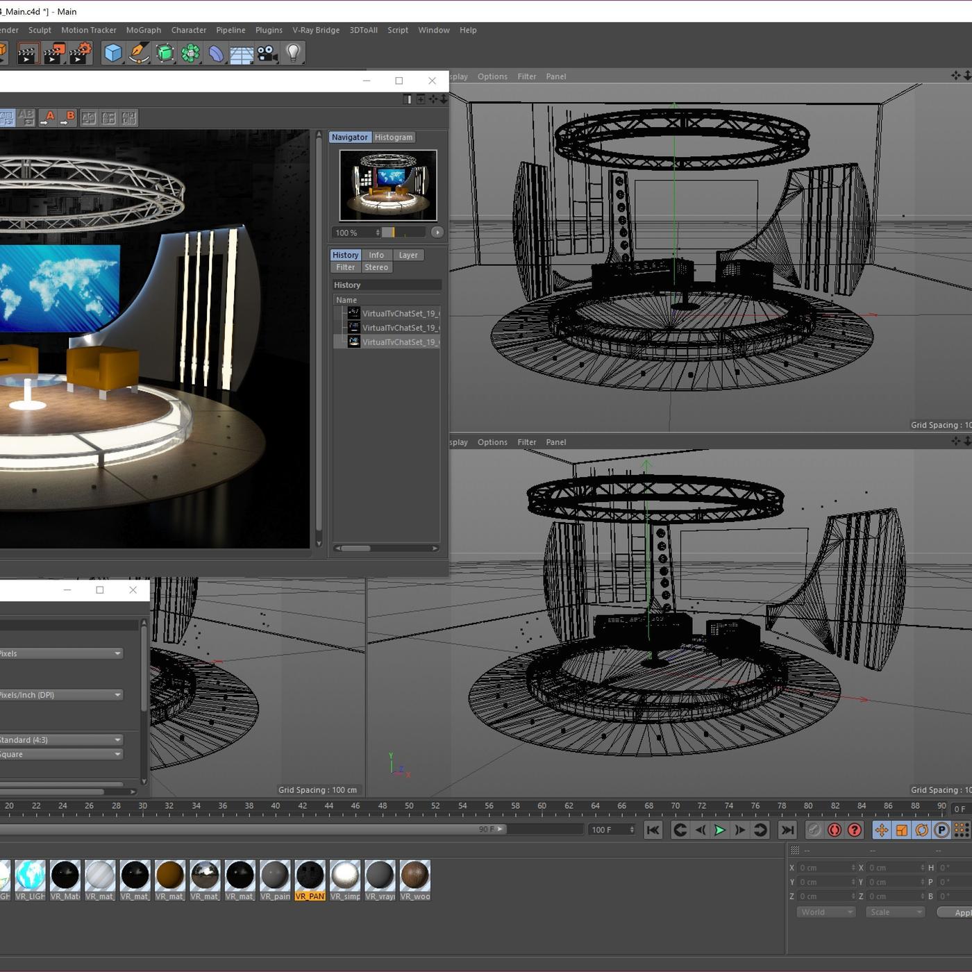 Virtual TV Studio Chat Set 19