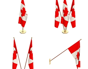 Canada Flag Pack 3D