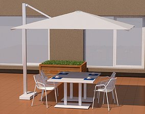 Outdoor Furniture 3D model shade