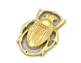 3D printable model Beetle pendant