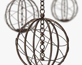 3D Louise Bradley - Lustre bronze globe furniture