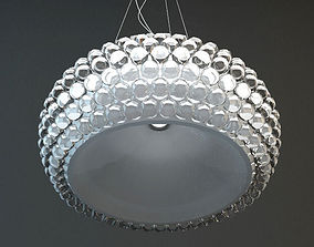 3D model Glass Bead Hanging Light Fixture