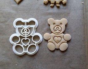 3D printable model Teddy bear cookie cutter