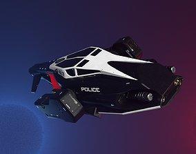 turbine 3d model of a futuristic police vehicle