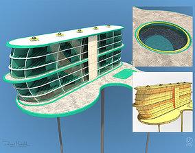 3D Futuristic Architecture Skyscraper 05