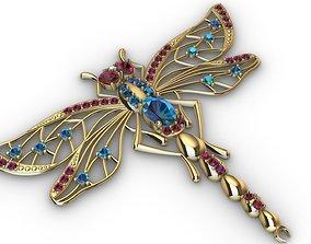 3D print model Brooche dragonfly