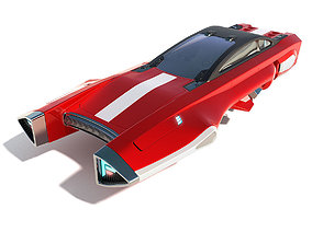 Flying racing car 3D