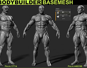 bodybuilder base mesh 3D