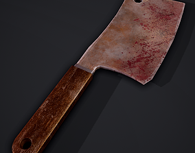 3D asset rigged Cleaver and Hilt 2