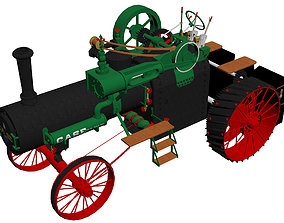 3D model Case 1911 Traction Engine